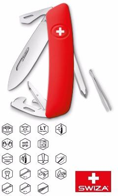 COUTEAU SWIZA MULTIFONCTIONS D04 ROUGE