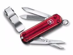 VICTORINOX NAILCLIP 580 ROUGE TRANSLUCIDE