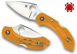COUTEAU PLIANT SPYDERCO DRAGONFLY ORANGE