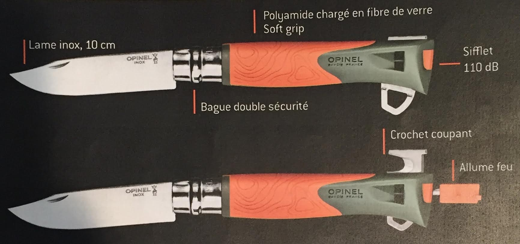 Couteau opinel n 12 explore - Couteau de cuisine opinel ...